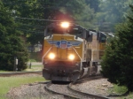 UP 8600 leads the MASKC as it rounds the curve 